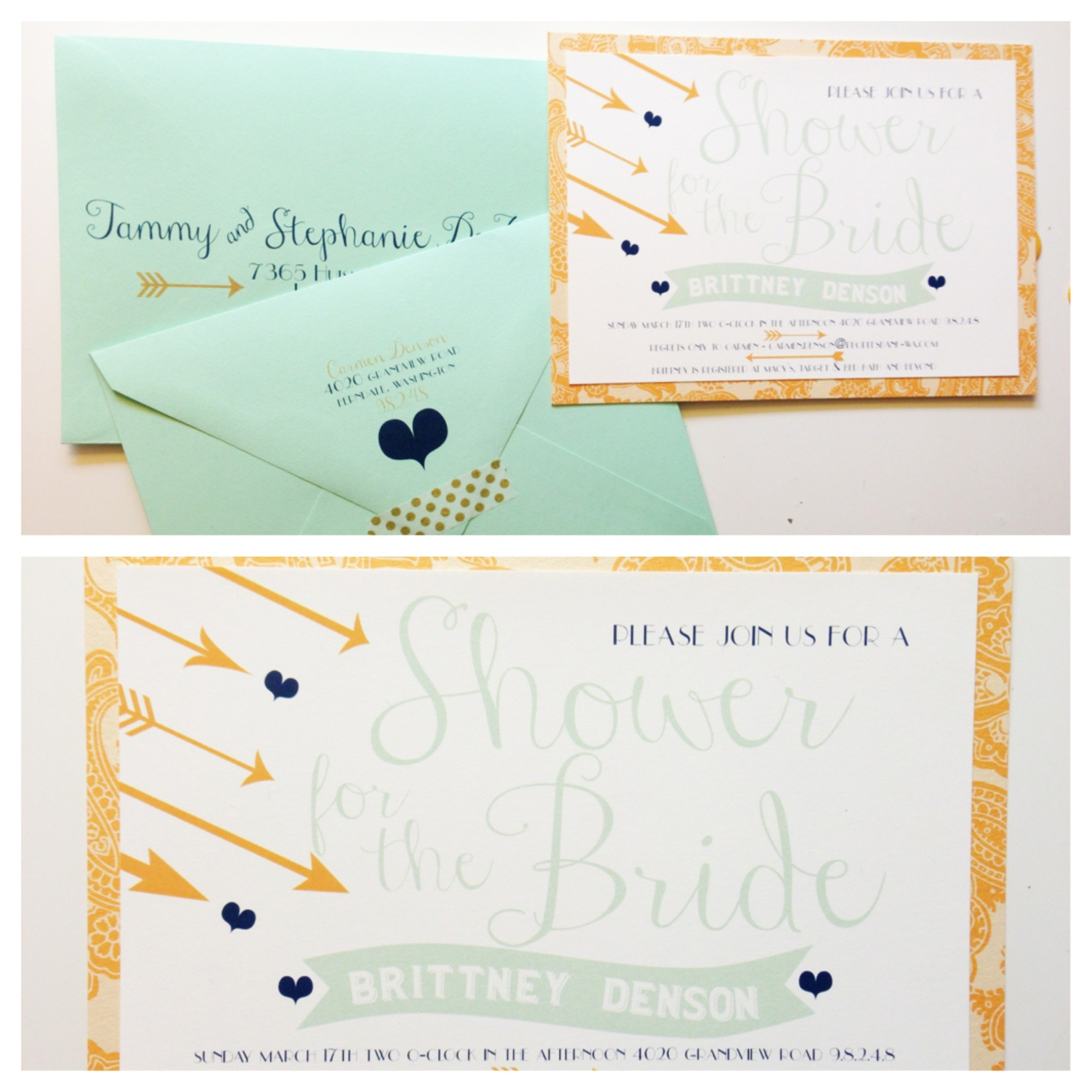 Sweet Whimsy Bridal Shower Invitations