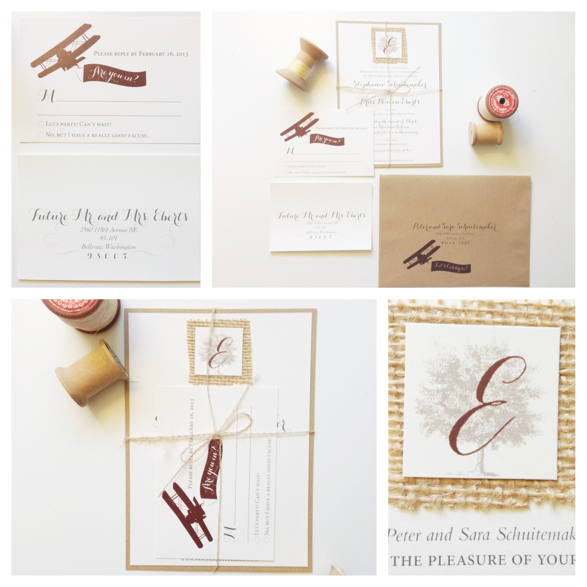 Kerri Efendi Designs Seattle Wedding Invitations